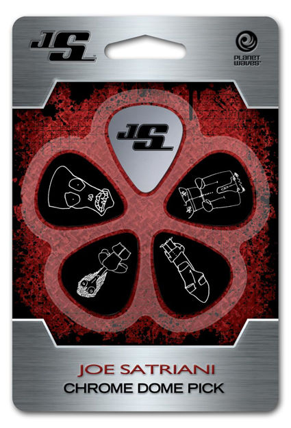 D'Addario Joe Satriani Chrome Dome Guitar Pick
