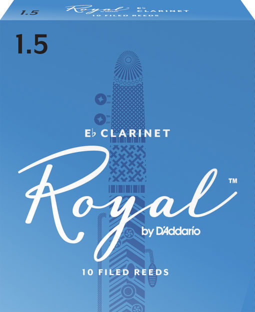 Royal by D'Addario Eb Clarinet Reeds, Strength 1.5, 10-pack