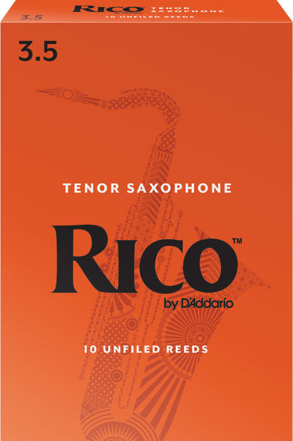 Rico by D'Addario Tenor Sax Reeds, Strength 3.5, 10-pack