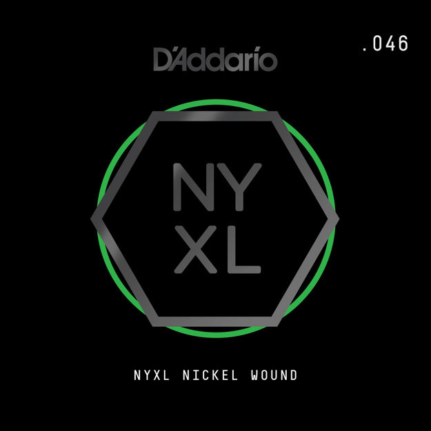 D'Addario NYNW046 NYXL Nickel Wound Electric Guitar Single String, .046