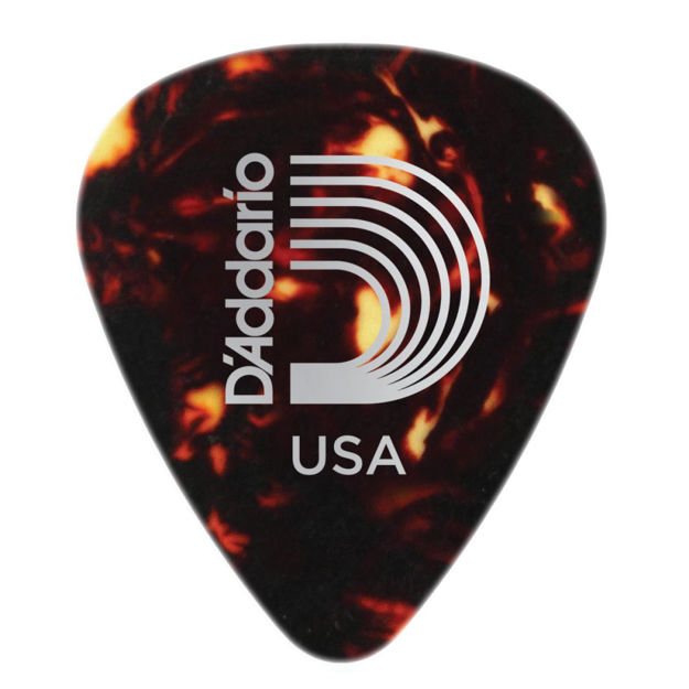 D'Addario Shell-Color Celluloid Guitar Picks, 25 pack, Heavy