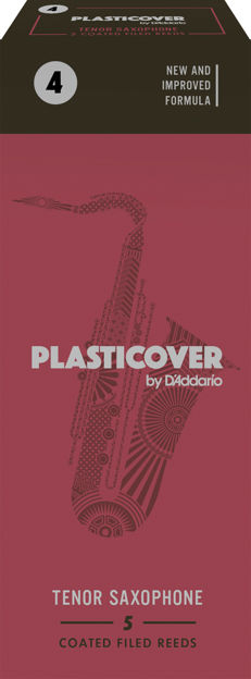 Plasticover by D'Addario Tenor Sax Reeds, Strength 4, 5-pack