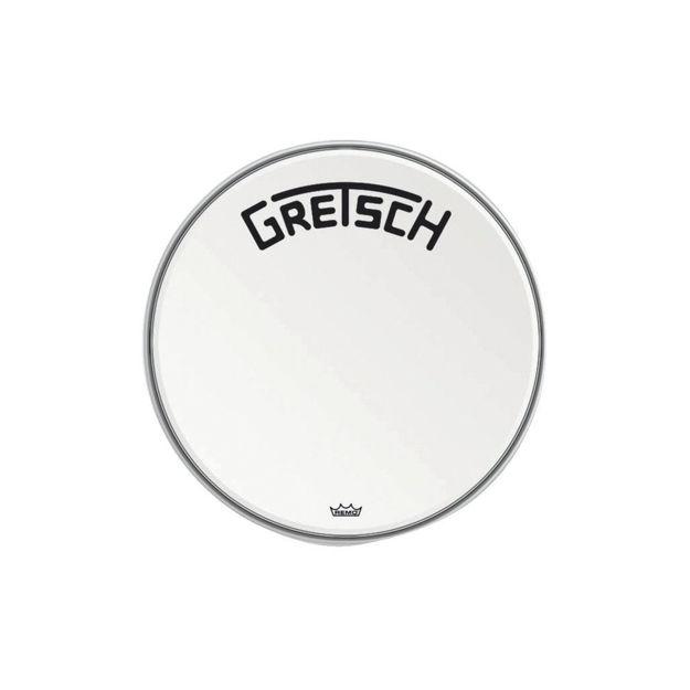 "Gretsch Bassdrum head Ambassador white coated - 18"""