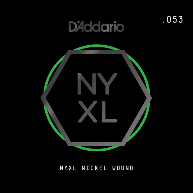 D'Addario NYNW053 NYXL Nickel Wound Electric Guitar Single String, .053