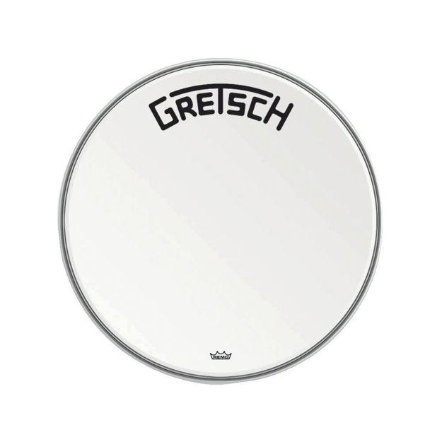 "Gretsch Bassdrum head Ambassador white coated - 22"""