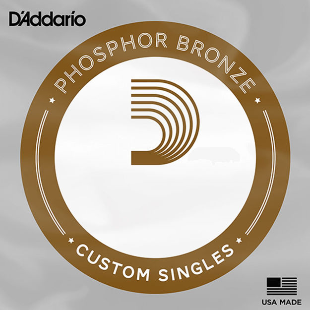 D'Addario PBB130 Phosphor Bronze Acoustic Bass Single Strings Long Scale, .130