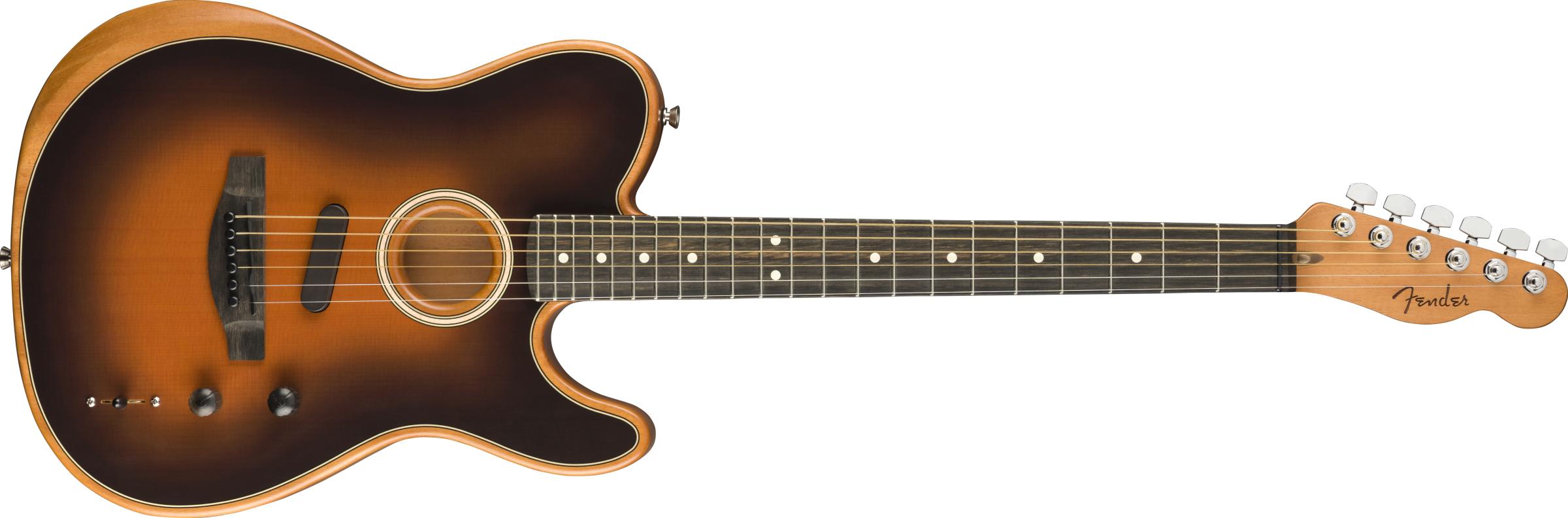RYDDESALG   Fender American Acoustasonic® Telecaster®, Ebony Fingerboard, Sunburst