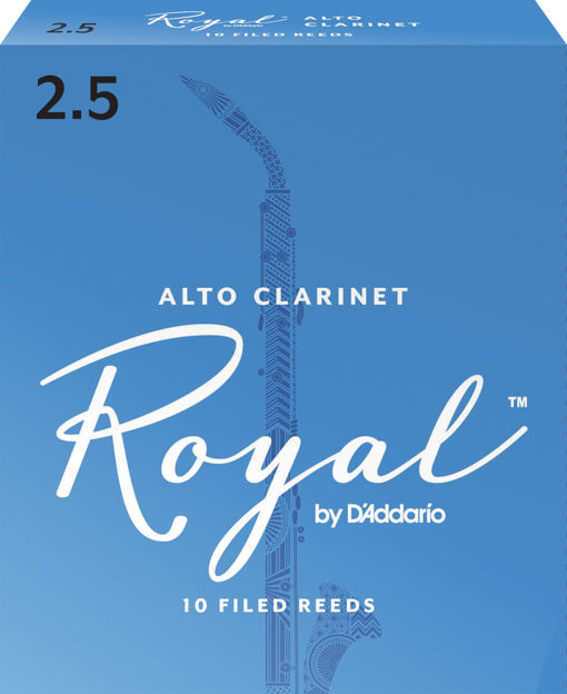 Royal by D'Addario Alto Clarinet Reeds, Strength 2.5, 10 Pack