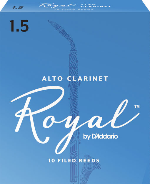 Royal by D'Addario Alto Clarinet Reeds, Strength 1.5, 10 Pack