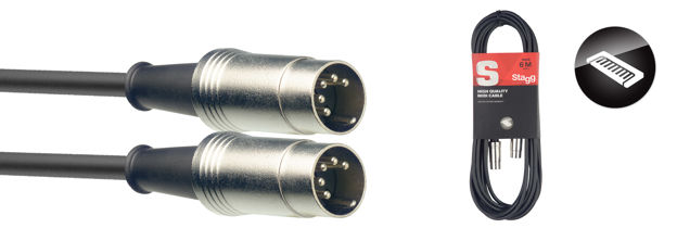 STAGG SMD3 midi cable 3m
