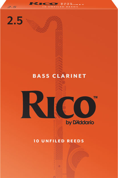 Rico by D'Addario Bass Clarinet Reeds, Strength 2.5, 10 Pack