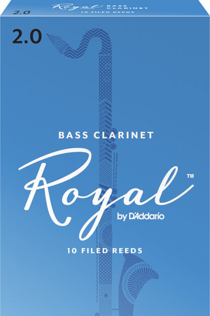 Royal by D'Addario Bass Clarinet Reeds, Strength 2, 10 Pack