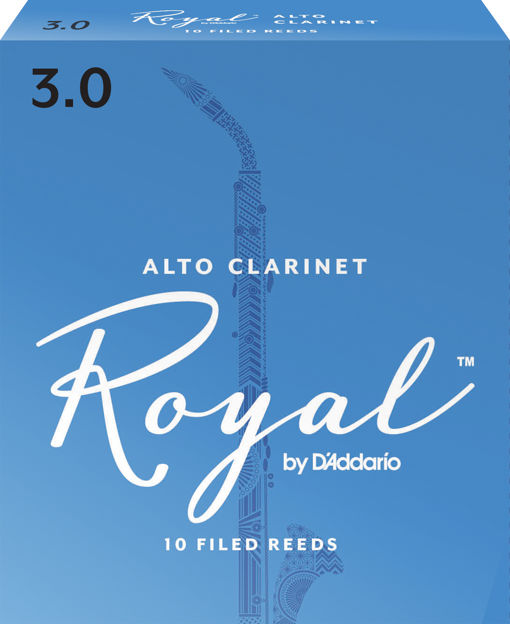 Royal by D'Addario Alto Clarinet Reeds, Strength 3, 10 Pack