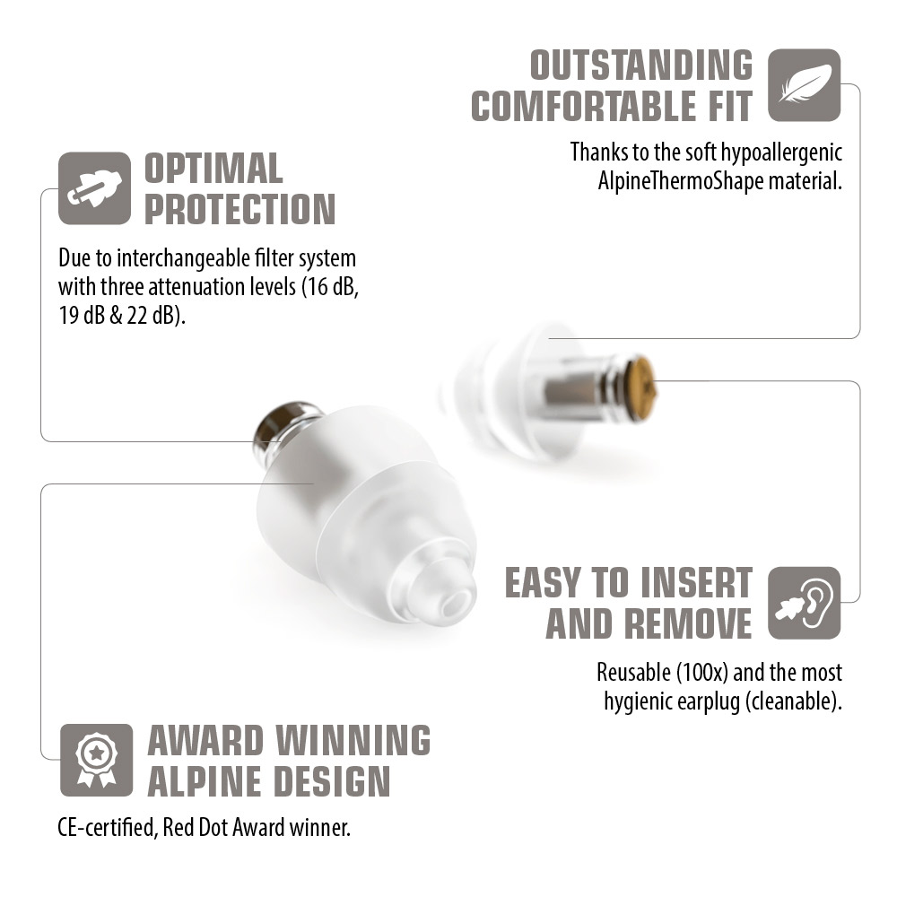 Alpine MusicSafe Pro earplugs transparant