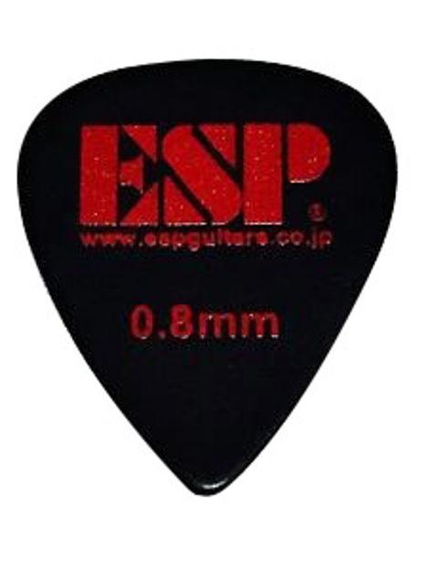 ESP PLEKTER 0,8mm sort m/rød logo