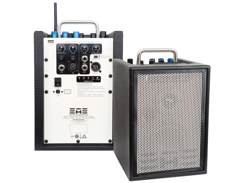 ELITE ACOUSTIC A1-BR8 3 CHANNEL MIXER,BATTERY,BLUETOOTH