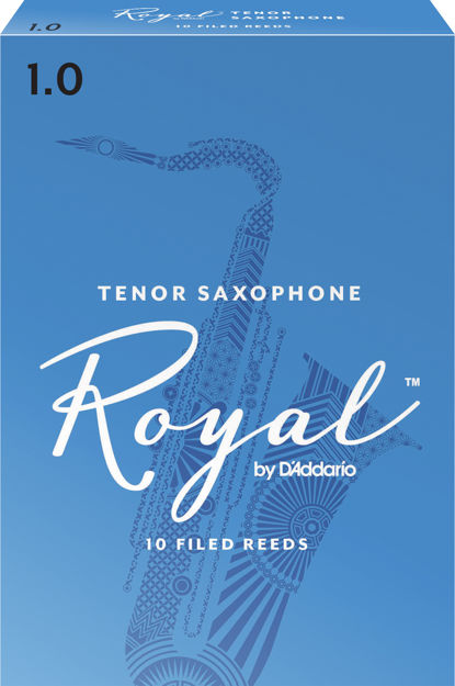 Royal by D'Addario Tenor Sax Reeds, Strength 1, 10-pack