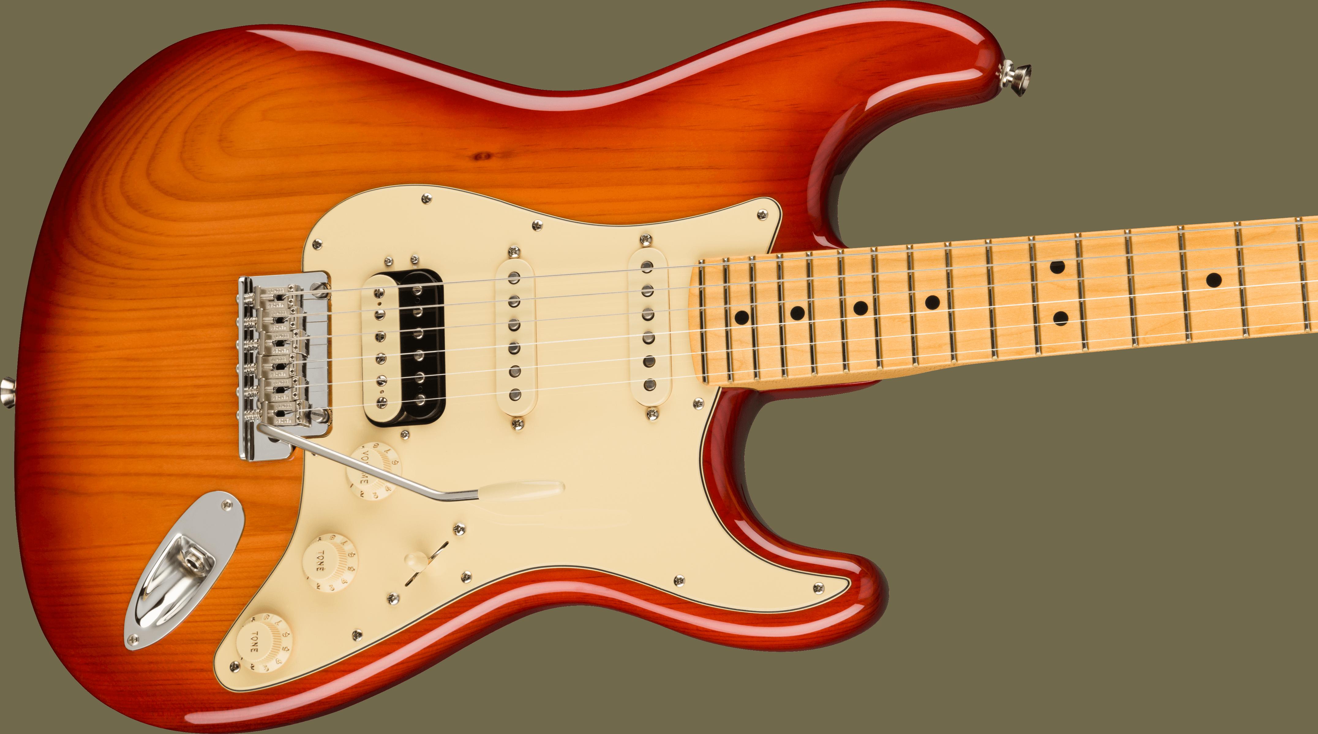 Fender American Professional II Stratocaster® HSS, Maple Fingerboard, Sienna Sunburst