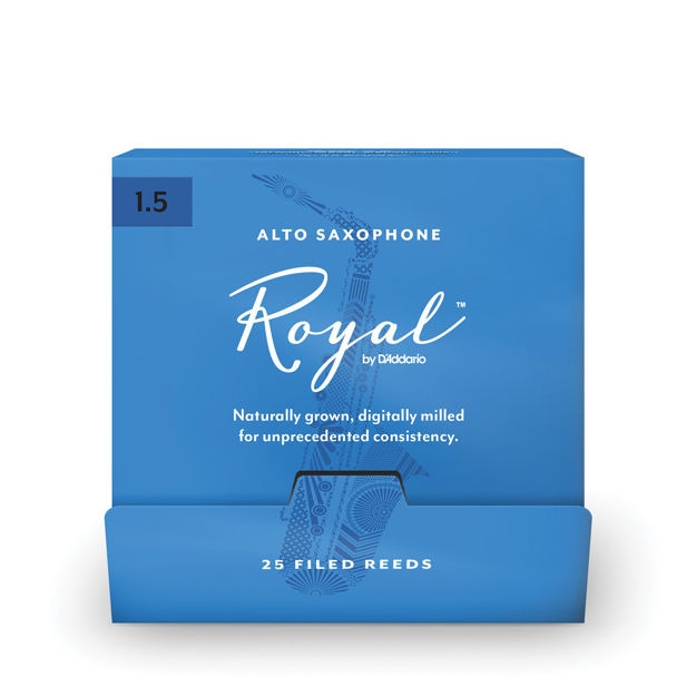 Royal by D'Addario Alto Sax Reeds, #1.5, 25-Count Single Reeds