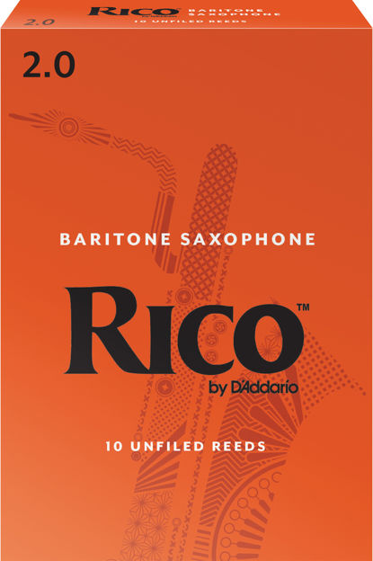 Rico by D'Addario Baritone Sax Reeds, Strength 2, 10-pack