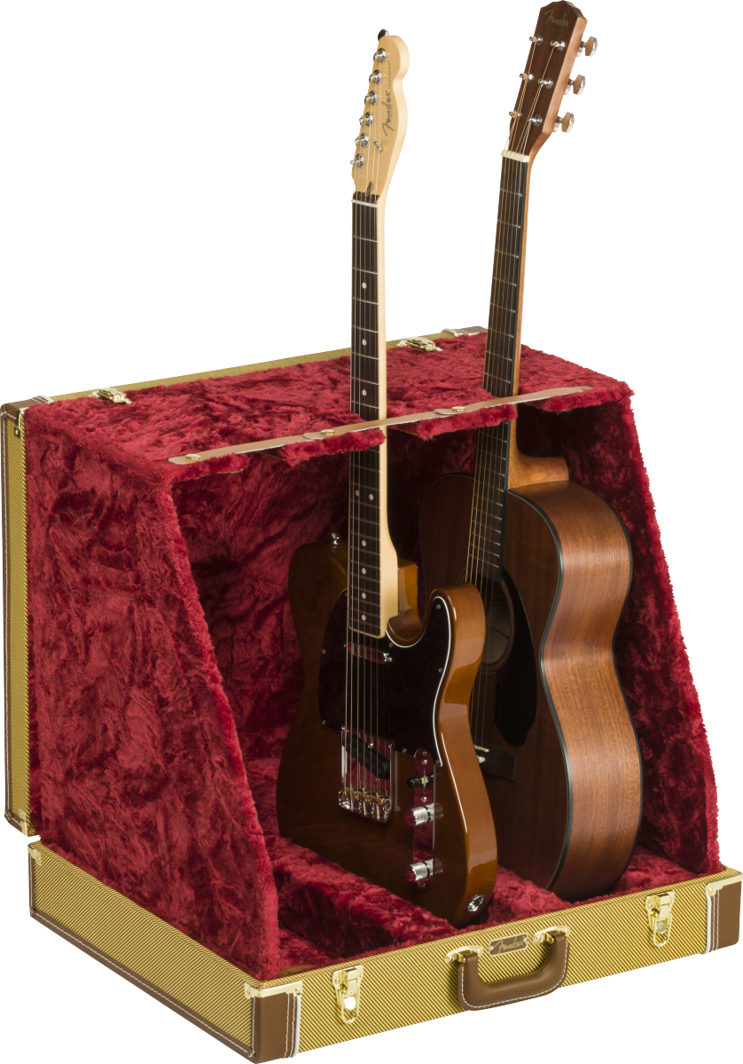 Fender Classic Series Case Stand Tweed - 3 Guitar
