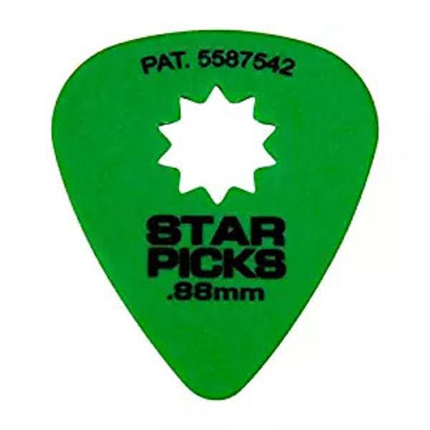 STAR PICKS BLISTER PACK (12PCS) .88MM GREEN