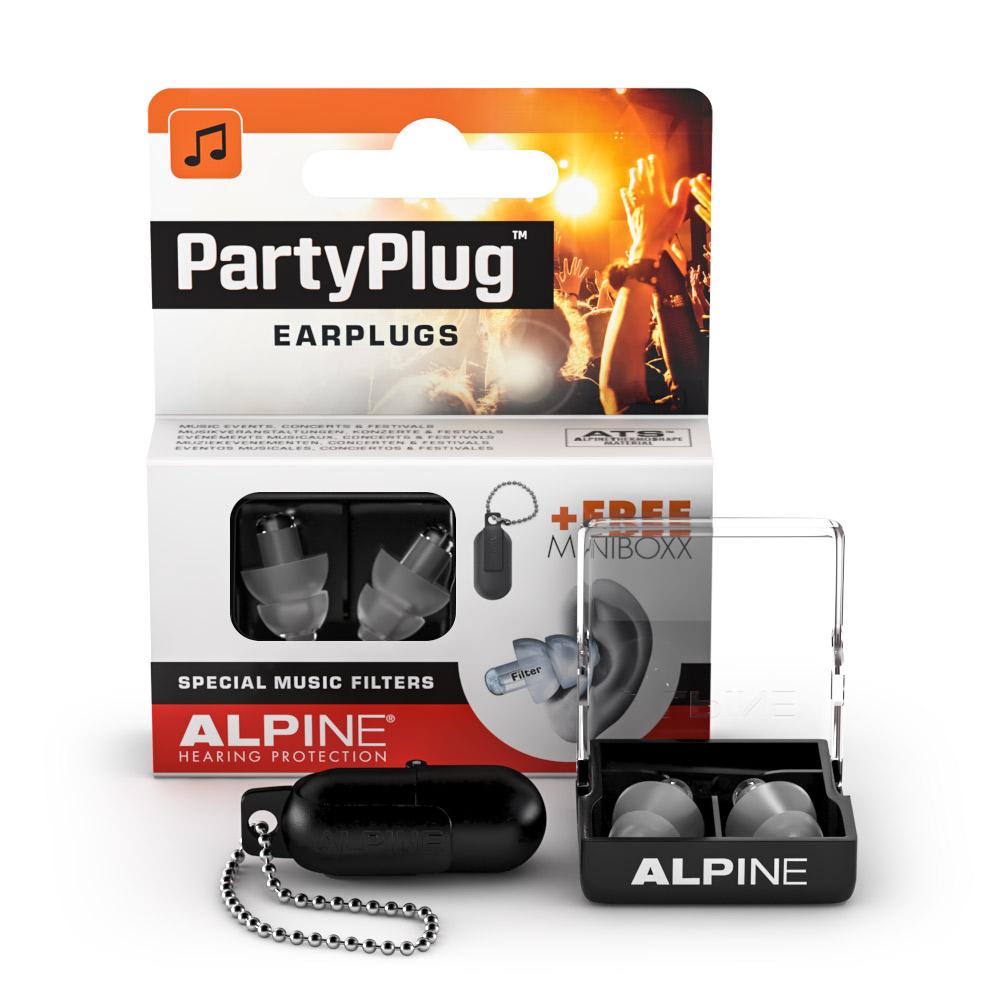 Alpine PartyPlug earplugs transparent