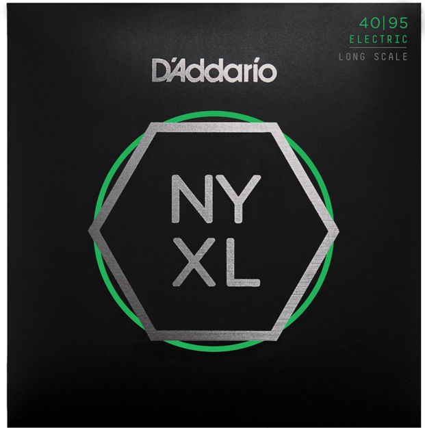 D'Addario NYXL4095 Nickel Wound Bass Guitar Strings, Super Light, 40-95, Long Scale