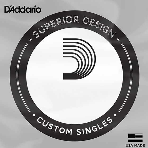 D'Addario NHR085 Half Round Bass Guitar Single String, Long Scale, .085
