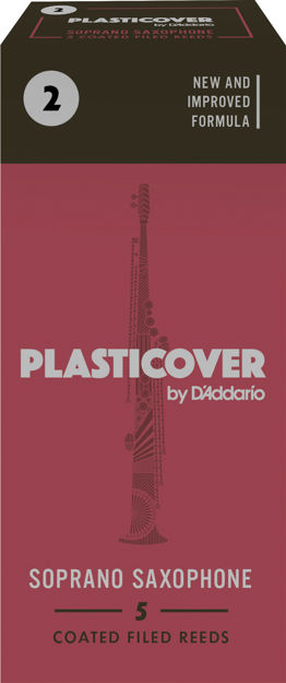 Plasticover by D'Addario Soprano Sax Reeds, Strength 2, 5-pack