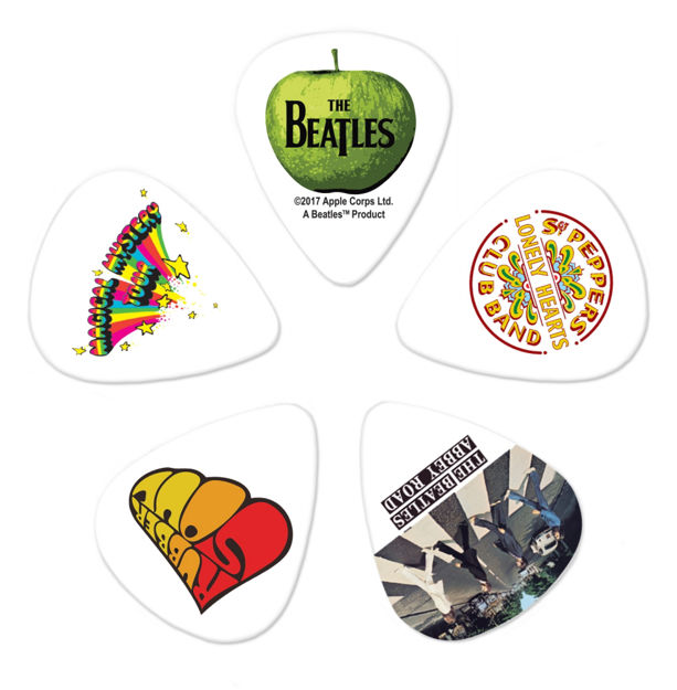 D'Addario Beatles Guitar Picks, Albums, 10 pack, Heavy