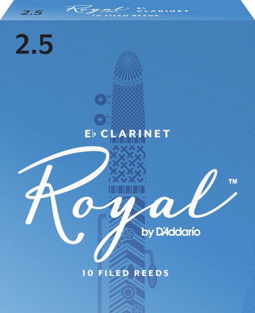 Royal by D'Addario Eb Clarinet Reeds, Strength 2.5, 10-pack