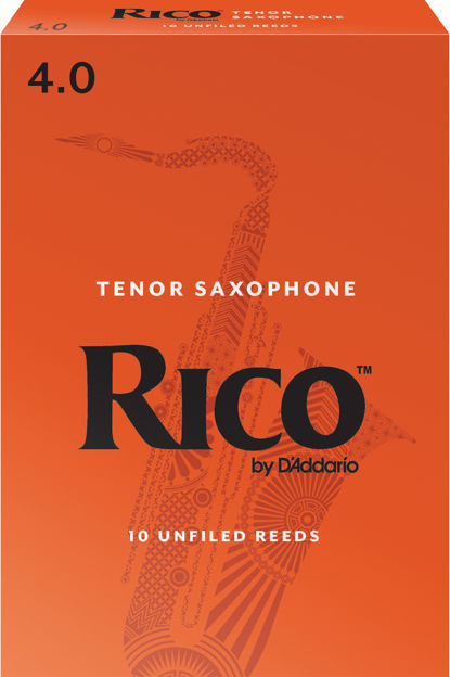 Rico by D'Addario Tenor Sax Reeds, Strength 4.0, 10-pack