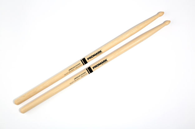 "Promark Rebound 5A .565"" Hickory Tear Drop Wood Tip"
