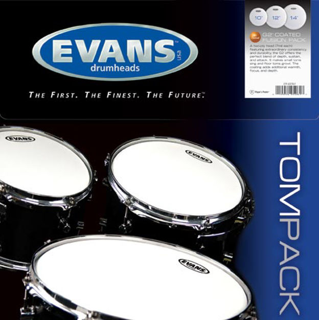 Evans G2 Tompack, Coated, Fusion (10 inch, 12 inch, 14 inch)