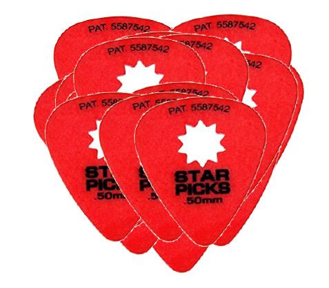 STAR PICKS BLISTER PACK (12PCS) .50MM RED