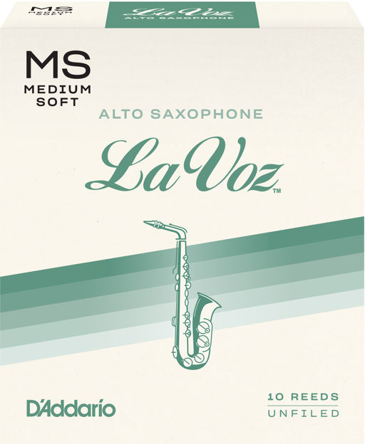 La Voz Alto Saxophone Reeds, Medium Soft, 10 Pack
