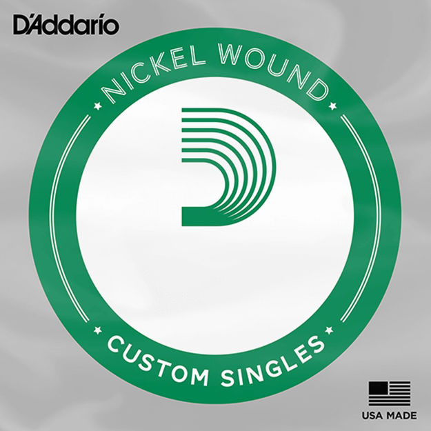 D'Addario PNG023 Pure Nickel Electric Guitar Single String, .023