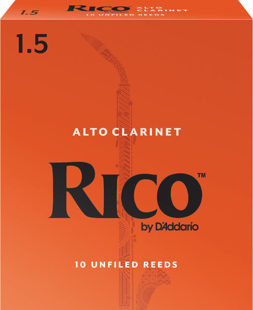 Rico by D'Addario Alto Clarinet Reeds, Strength 1.5, 10 Pack