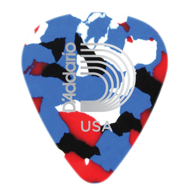 D'Addario Multi-Color Celluloid Guitar Picks, 25 pack, Extra Heavy