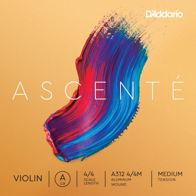 D'Addario Ascenté Violin A String, 4/4 Scale, Medium Tension