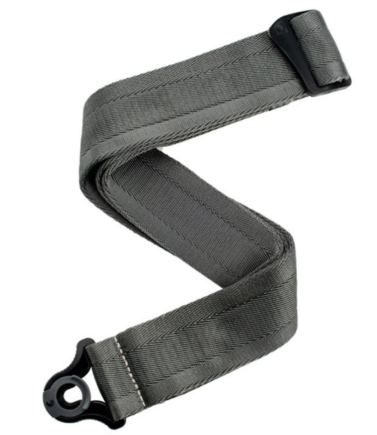 D'Addario Auto Lock Guitar Strap - Metal Grey