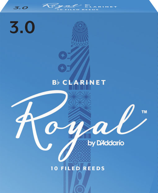 Royal by D'Addario Bb Clarinet Reeds, Strength 3, 10-pack