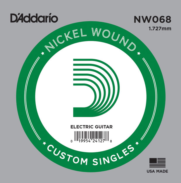 D'Addario NW068 Nickel Wound Electric Guitar Single String, .068