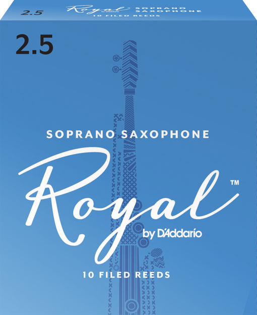 Royal by D'Addario Soprano Sax Reeds, Strength 2.5, 10-pack