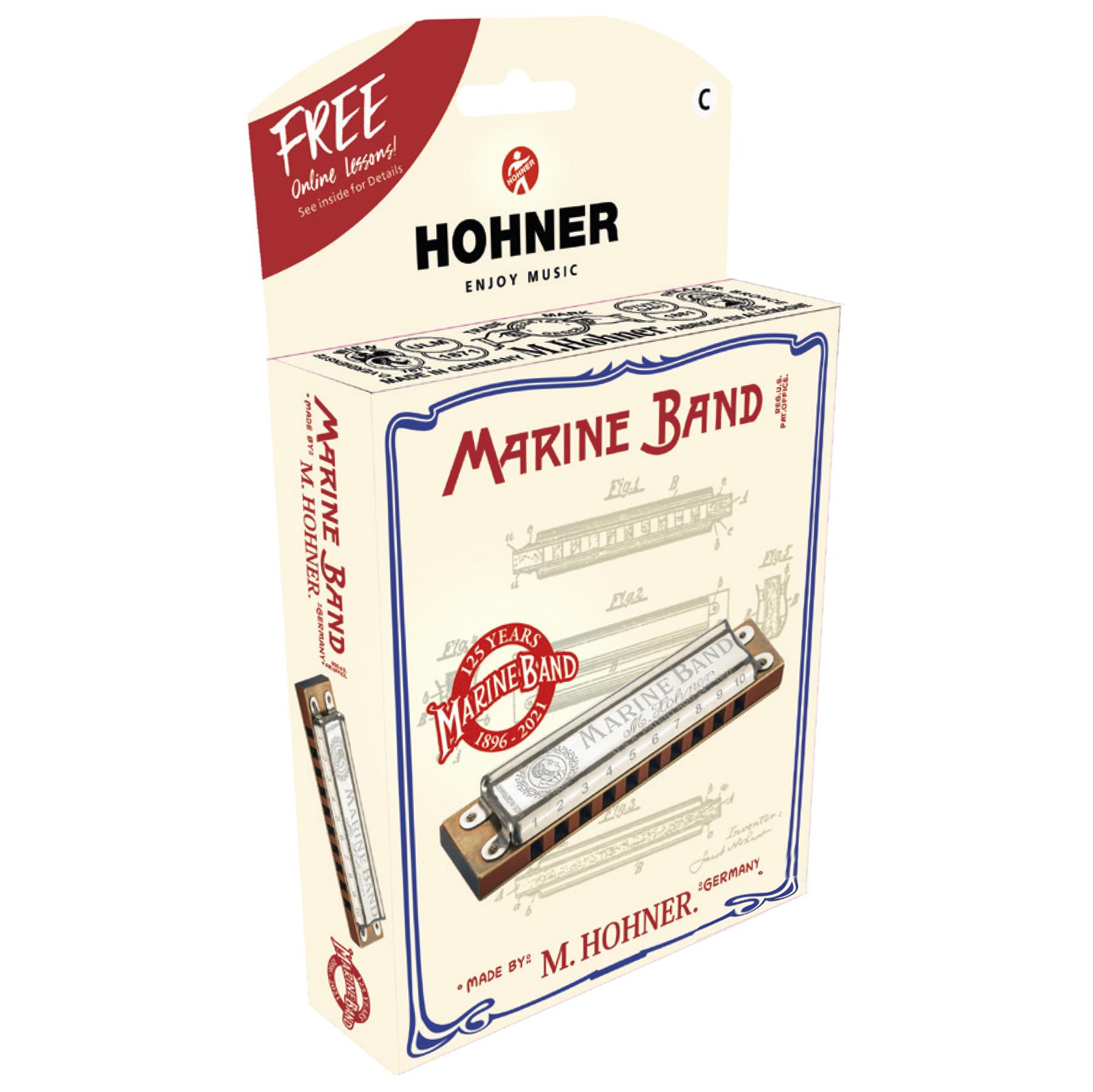 HOHNER 125th ANNIVERSARY MARINE BAND C BOX