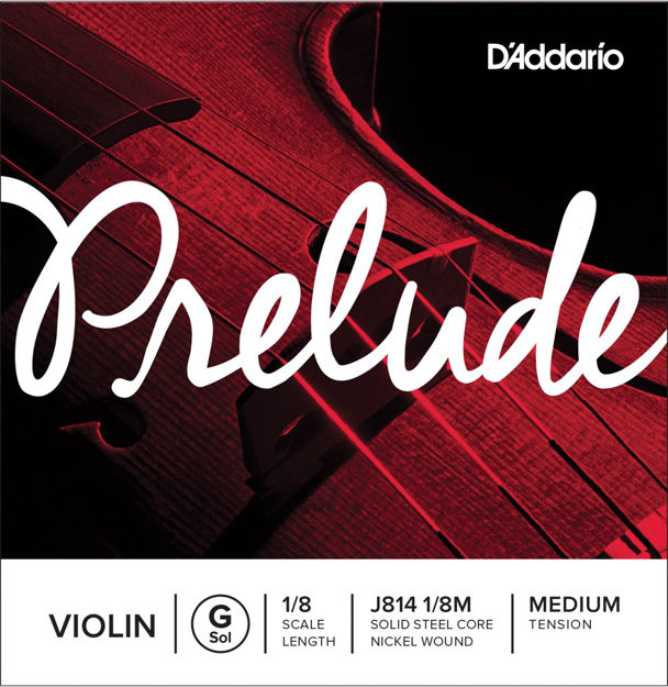 D'Addario Prelude Violin Single G String, 1/8 Scale, Medium Tension