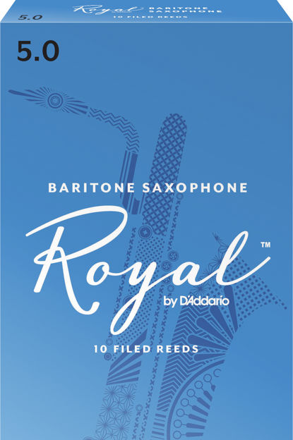 Royal by D'Addario Baritone Sax Reeds, Strength 5, 10-pack