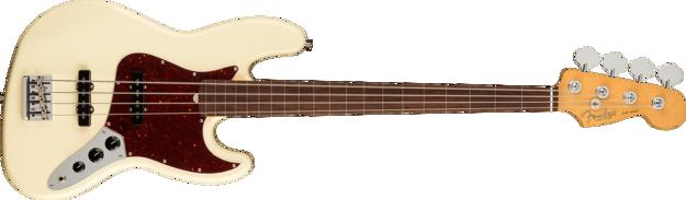 Fender American Professional II Jazz Bass® Fretless, Rosewood Fingerboard, Olympic White