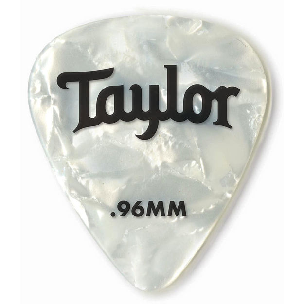 TaylorWare  Taylor Celluloid 351 Picks, White Pearl, 0.96mm, 12-Pack